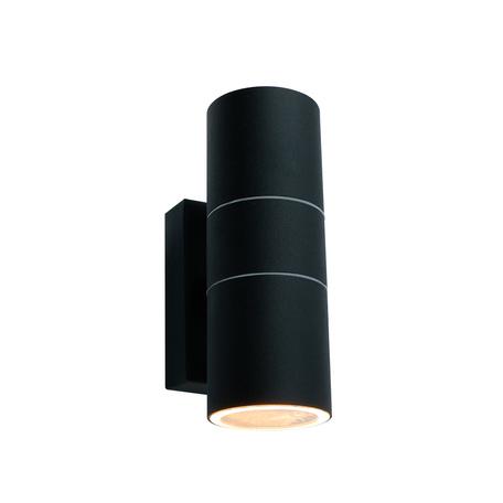 Настенный светильник Arte Lamp Instyle Mistero A3302AL-2BK, IP44, 2xGU10x35W, черный, металл, стекло