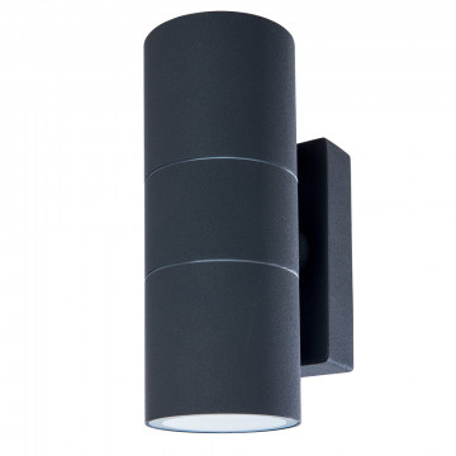 Настенный светильник Arte Lamp Instyle Mistero A3302AL-2GY, IP44, 2xGU10x35W, темно-серый, металл, стекло