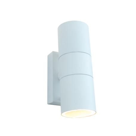 Настенный светильник Arte Lamp Instyle Mistero A3302AL-2WH, IP44, 2xGU10x35W, белый, металл, стекло