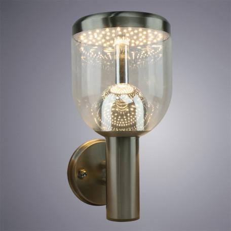 Настенный светодиодный светильник Arte Lamp Instyle Inchino A8163AL-1SS, IP44, серебро, прозрачный, металл, пластик