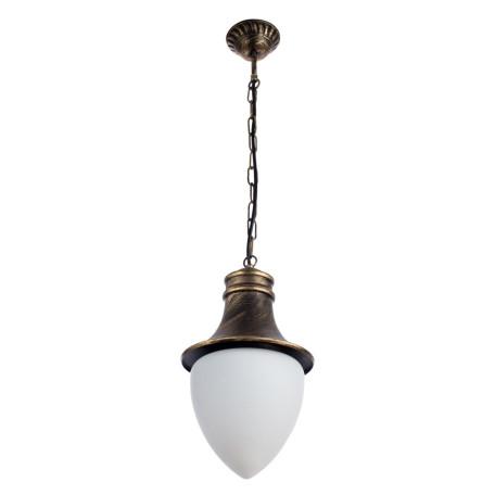 Подвесной светильник Arte Lamp Vienna A1317SO-1BN, IP44, 1xE27x75W, черненое золото, металл, ковка, металл со стеклом