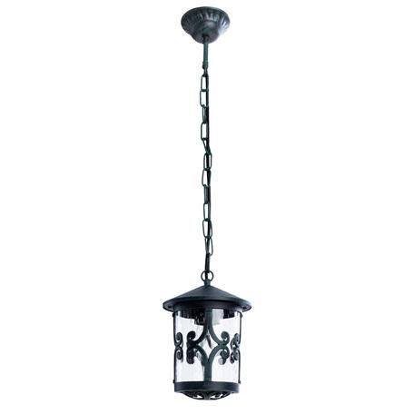 Подвесной светильник Arte Lamp Persia A1455SO-1BG, IP21, 1xE27x75W, бирюзовый, прозрачный, металл, стекло