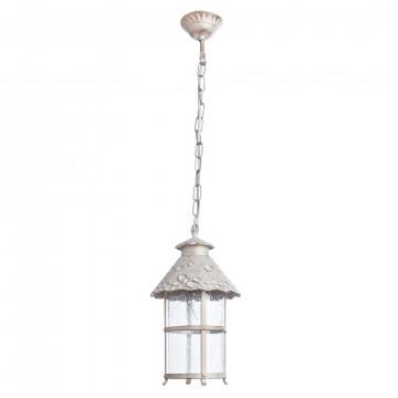 Подвесной светильник Arte Lamp Prague A1465SO-1WG, IP21, 1xE27x75W, белый с золотой патиной, прозрачный, металл, стекло