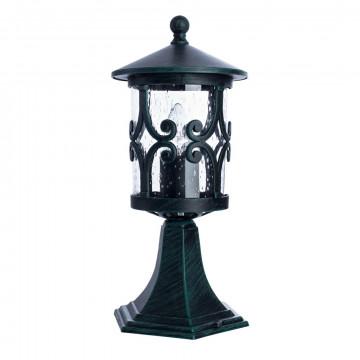 Садово-парковый светильник Arte Lamp Persia A1454FN-1BG, IP21, 1xE27x75W, бирюзовый, прозрачный, металл, стекло