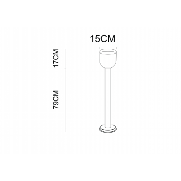 Схема с размерами Arte Lamp Instyle A8163PA-1SS
