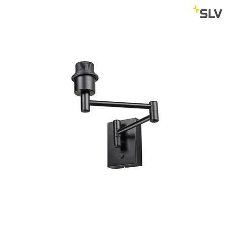 Основание бра SLV FENDA BASIS WL-2 1001450, 1xE27x40W, черный, металл