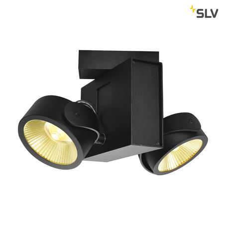 Потолочно-подвесной светодиодный светильник SLV TEC KALU 2 LED 1001431, LED 3000K, черный, металл
