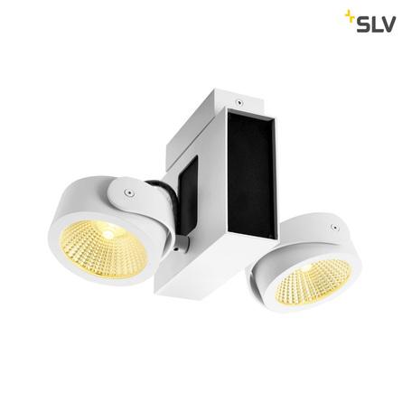 Потолочно-подвесной светодиодный светильник SLV TEC KALU 2 LED 1001432, LED 3000K, белый, черно-белый, металл