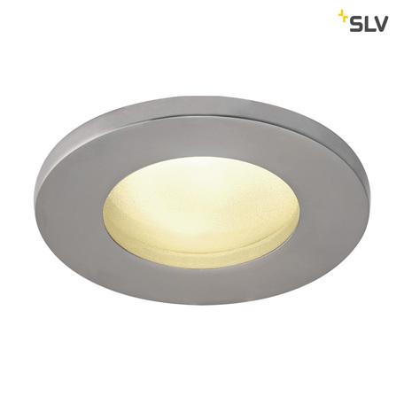 Встраиваемый светильник SLV DOLIX OUT ROUND GU10 1001168, IP65, 1xGU10x50W, матовый хром, металл
