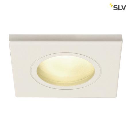 Встраиваемый светильник SLV DOLIX OUT SQUARE GU10 1001169, IP65, 1xGU10x50W, белый, металл