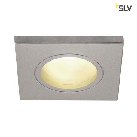 Встраиваемый светильник SLV DOLIX OUT SQUARE GU10 1001171, IP65, 1xGU10x50W, серый, металл