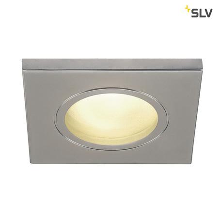 Встраиваемый светильник SLV DOLIX OUT SQUARE GU10 1001172, IP65, 1xGU10x50W, матовый хром, металл