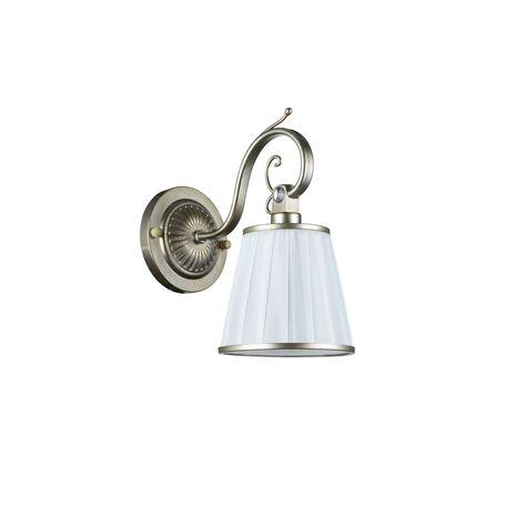 Бра Maytoni Brezza ARM002-01-NG, 1xE14x40W, серебро, белый, металл, текстиль