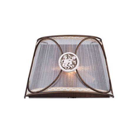 Бра Maytoni Letizia ARM365-01-R, 1xE14x40W, бронза, коричневый, металл, текстиль, керамика