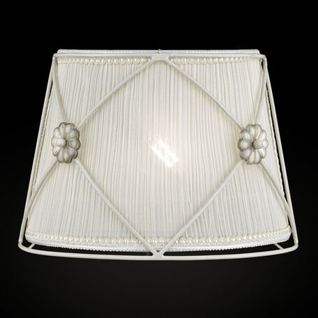 Бра Maytoni Neoclassic Lea ARM369-01-G, 1xE14x40W, белый, бежевый, металл, текстиль