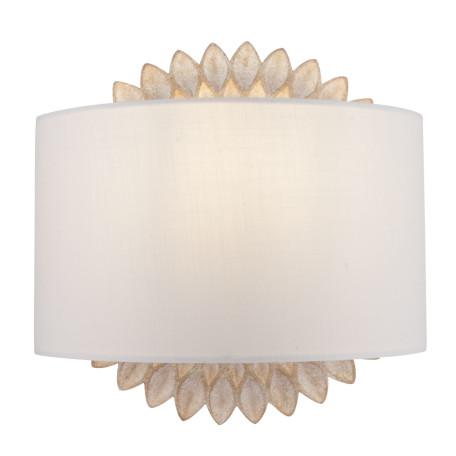 Бра Maytoni Classic House Lamar H301-01-G, 1xE14x40W, бежевый, белый, металл, текстиль