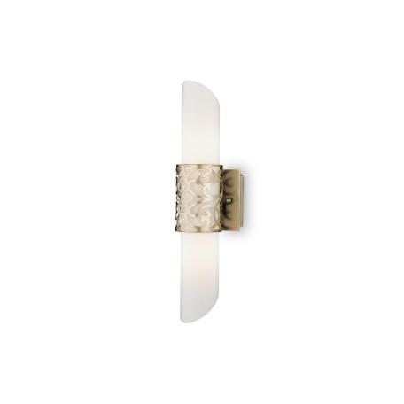 Настенный светильник Maytoni Venera H260-02-N, 2xE14x40W, бронза, белый, металл, стекло
