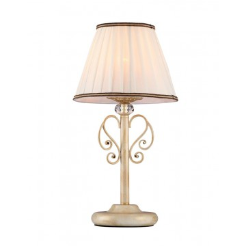 Настольная лампа Maytoni Vintage ARM420-22-G, 1xE14x40W, матовое золото, прозрачный, белый, металл, текстиль