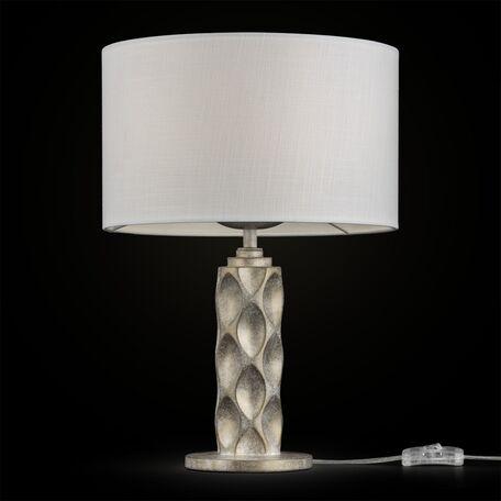 Настольная лампа Maytoni Classic House Lamar H301-11-G, 1xE27x60W, бежевый, белый, металл, текстиль
