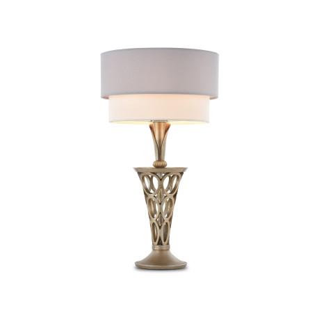 Настольная лампа Maytoni Lillian H311-11-G, 1xE27x60W, серебро, серый, металл, текстиль
