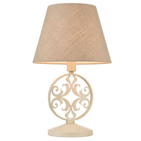 Настольная лампа Maytoni Rustika H899-22-W, 1xE27x40W, бежевый, металл, текстиль