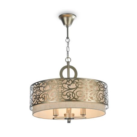 Подвесная люстра Maytoni Classic House Venera H260-03-N, 3xE14x40W, бронза, металл, металл с текстилем, текстиль с металлом
