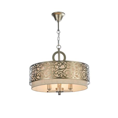 Подвесная люстра Maytoni Classic House Venera H260-03-N, 3xE14x40W, бронза, металл, металл с текстилем, текстиль с металлом - миниатюра 2