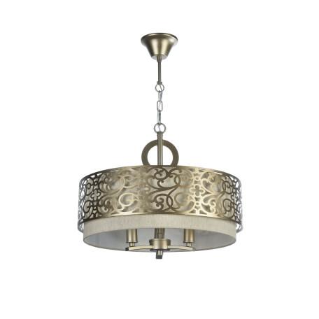 Подвесная люстра Maytoni Classic House Venera H260-03-N, 3xE14x40W, бронза, металл, металл с текстилем, текстиль с металлом - миниатюра 3
