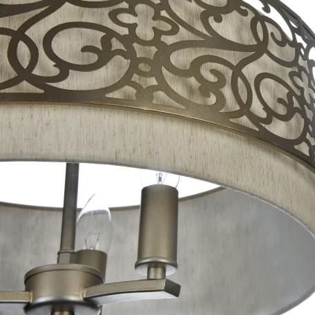 Подвесная люстра Maytoni Classic House Venera H260-03-N, 3xE14x40W, бронза, металл, металл с текстилем, текстиль с металлом - миниатюра 4