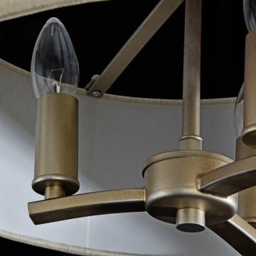 Подвесная люстра Maytoni Classic House Venera H260-03-N, 3xE14x40W, бронза, металл, металл с текстилем, текстиль с металлом - миниатюра 6