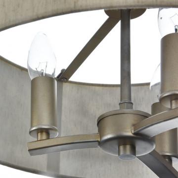 Подвесная люстра Maytoni Classic House Venera H260-03-N, 3xE14x40W, бронза, металл, металл с текстилем, текстиль с металлом - миниатюра 8