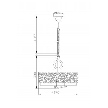 Схема с размерами Maytoni H260-03-N