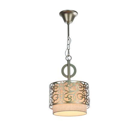 Подвесной светильник Maytoni Classic House Venera H260-00-N, 1xE27x60W, бронза, металл, металл с текстилем, текстиль с металлом