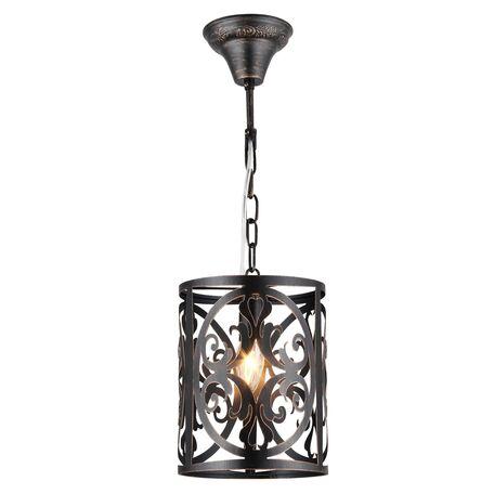 Подвесной светильник Maytoni Classic House Rustika H899-11-R, 1xE14x60W, коричневый, металл, ковка