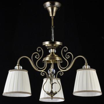 Потолочно-подвесная люстра Maytoni Vintage ARM420-03-R, 3xE14x40W, бронза, белый, металл, текстиль - миниатюра 2