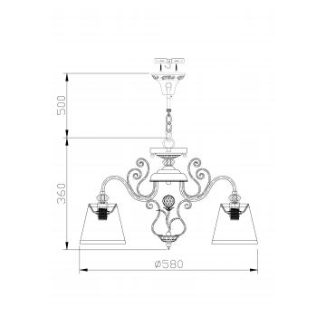 Схема с размерами Maytoni ARM420-03-R