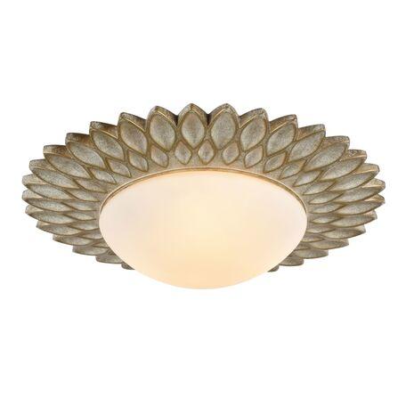Потолочный светильник Maytoni Lamar H301-03-G, 3xE14x40W, бежевый, белый, металл, стекло - миниатюра 1