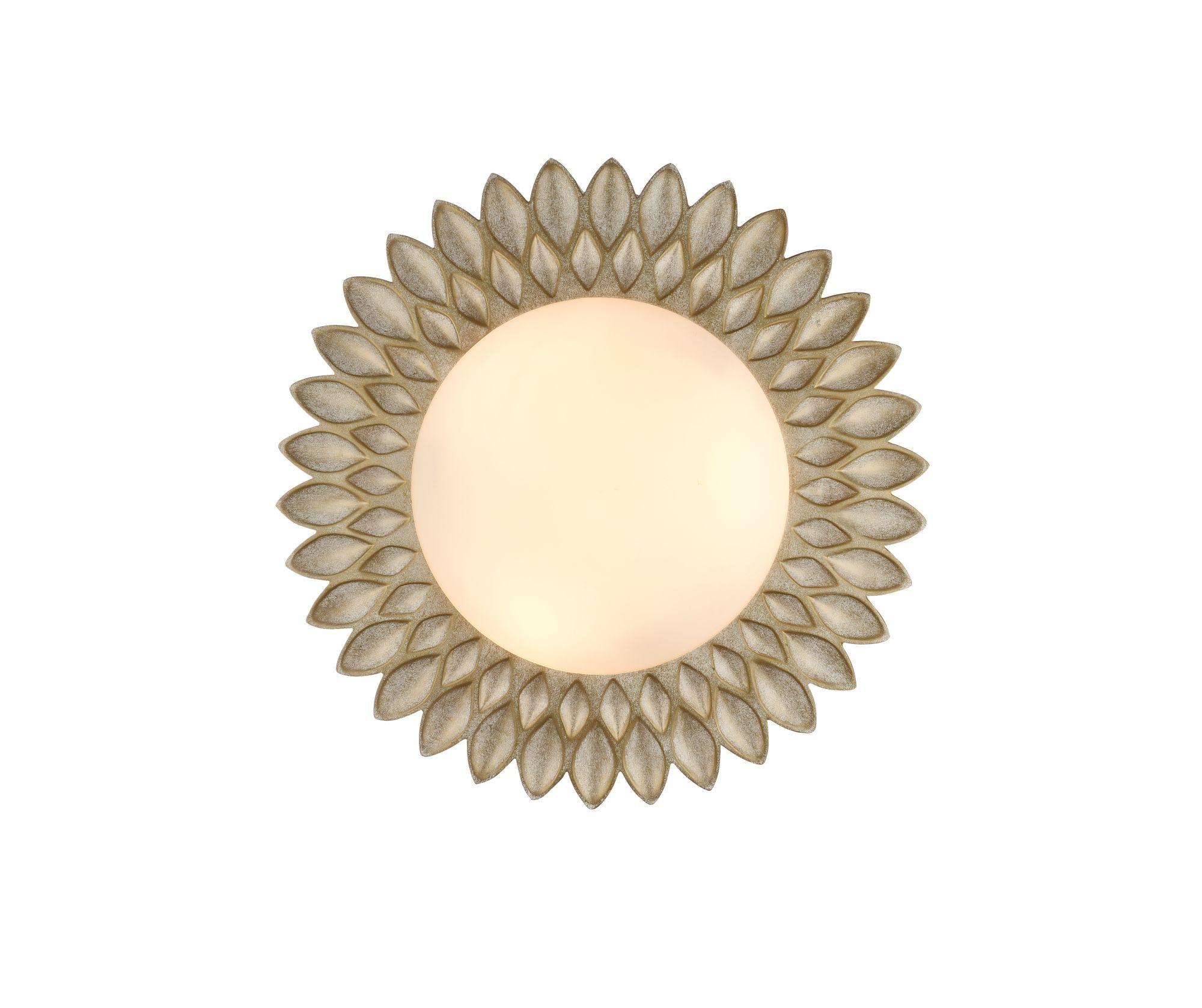 Потолочный светильник Maytoni Lamar H301-03-G, 3xE14x40W, бежевый, белый, металл, стекло - фото 2