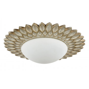 Потолочный светильник Maytoni Lamar H301-03-G, 3xE14x40W, бежевый, белый, металл, стекло - миниатюра 4