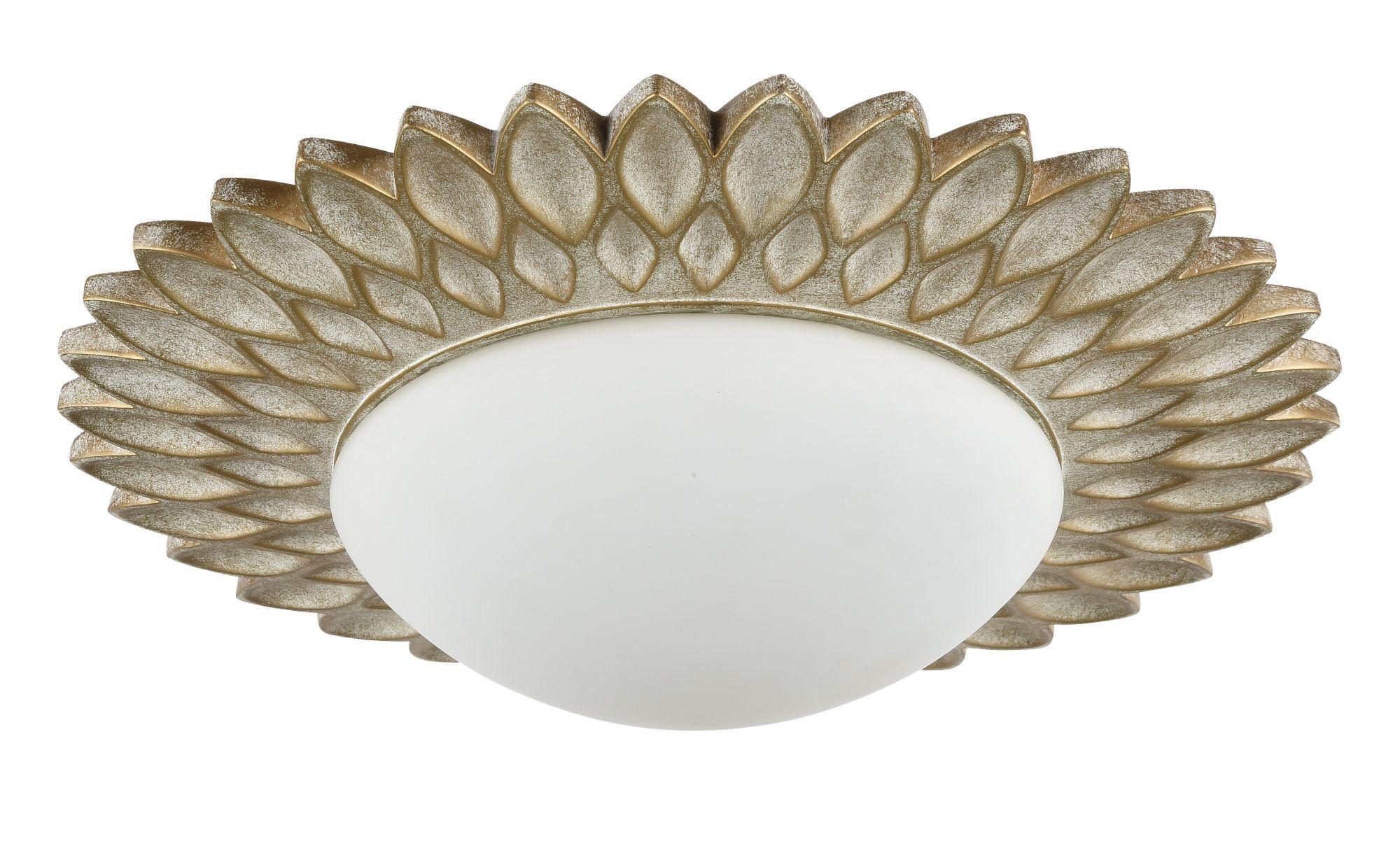 Потолочный светильник Maytoni Lamar H301-03-G, 3xE14x40W, бежевый, белый, металл, стекло - фото 4