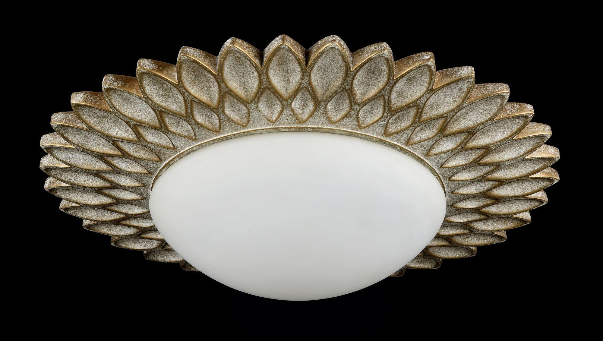 Потолочный светильник Maytoni Lamar H301-03-G, 3xE14x40W, бежевый, белый, металл, стекло - фото 5
