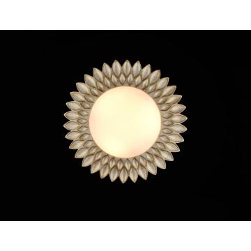 Потолочный светильник Maytoni Classic House Lamar H301-03-G, 3xE14x40W, бежевый, белый, металл, стекло - миниатюра 6
