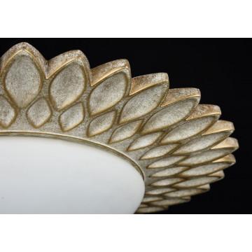 Потолочный светильник Maytoni Classic House Lamar H301-03-G, 3xE14x40W, бежевый, белый, металл, стекло - миниатюра 7