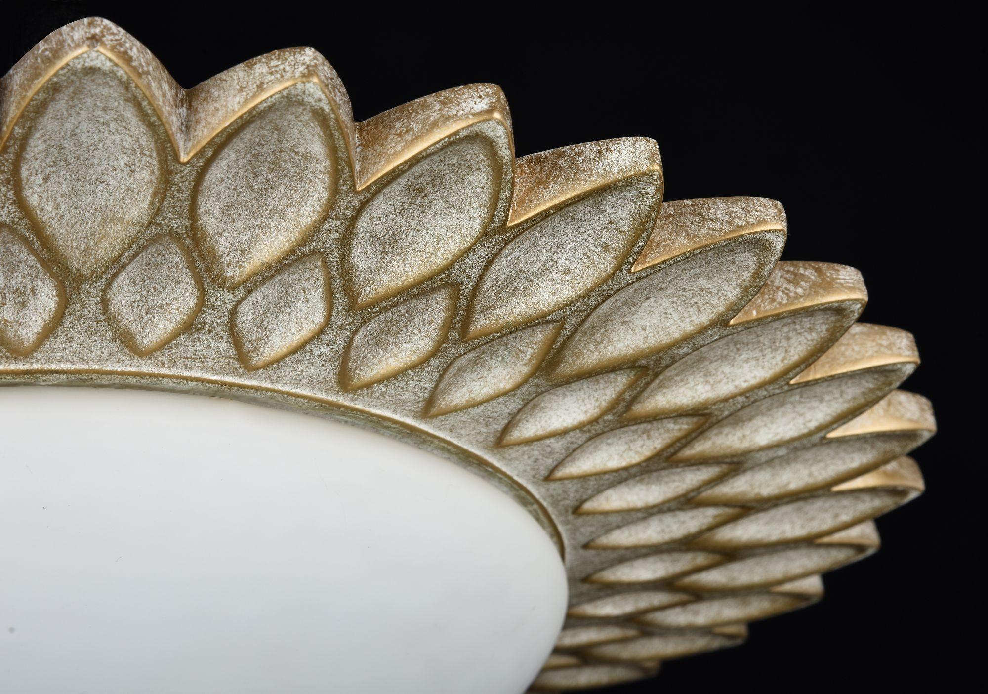 Потолочный светильник Maytoni Lamar H301-03-G, 3xE14x40W, бежевый, белый, металл, стекло - фото 7