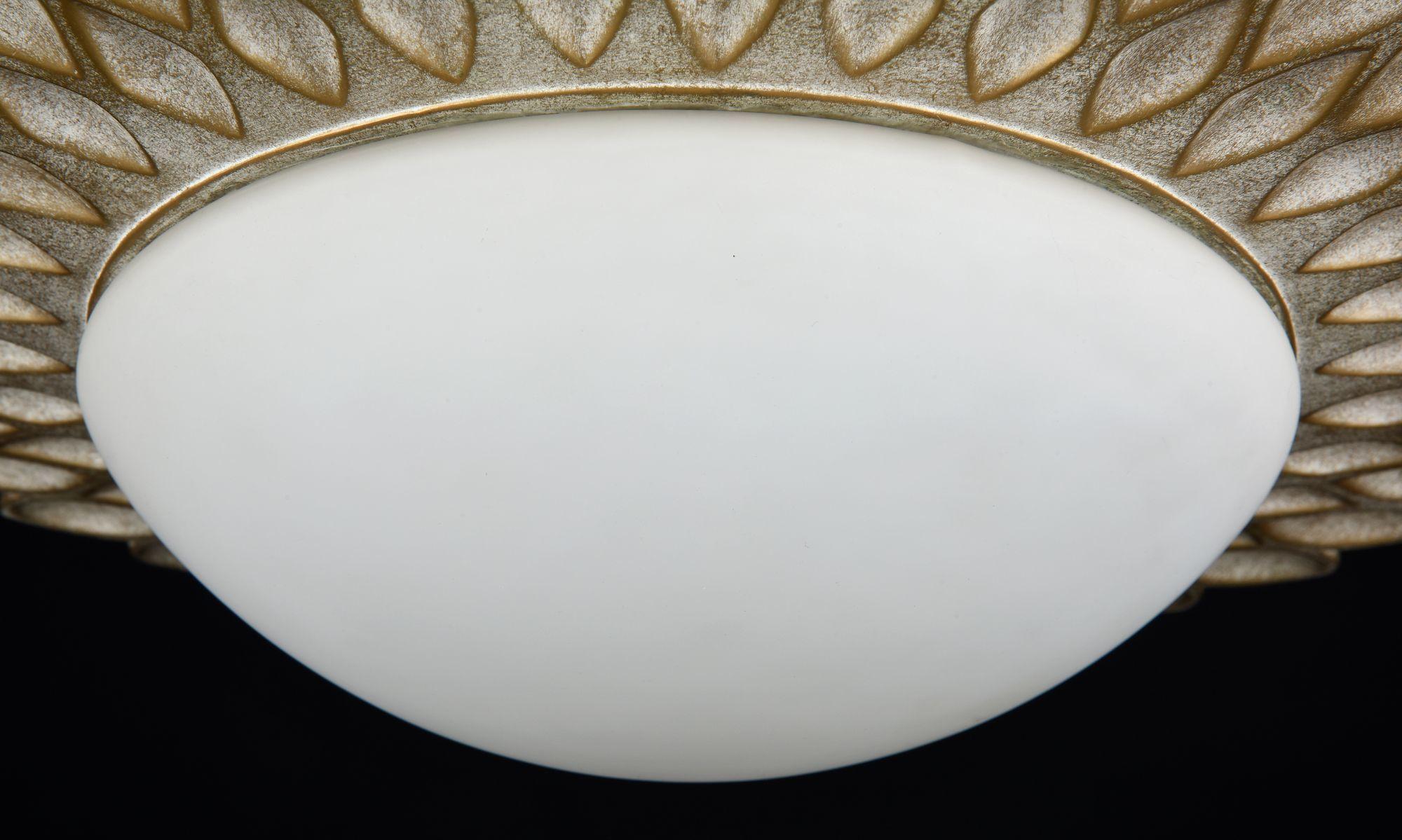 Потолочный светильник Maytoni Lamar H301-03-G, 3xE14x40W, бежевый, белый, металл, стекло - фото 8