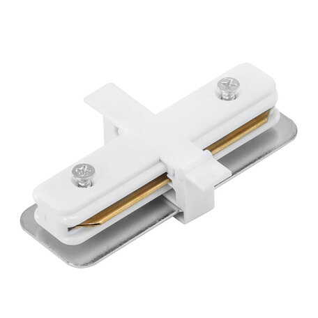 Внутренний прямой соединитель для шинопровода Arte Lamp Instyle A130133, белый, пластик