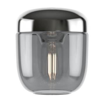 Плафон Umage Acorn 2214, сталь, дымчатый, металл, стекло
