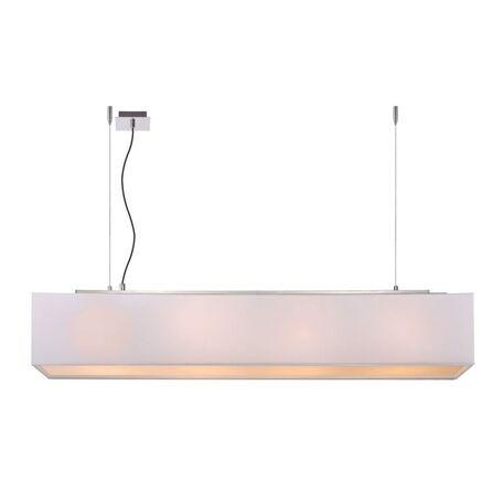 Подвесной светильник Lucide Collom 31458/04/31, 4xE27x24W, хром, белый, металл, текстиль, пластик