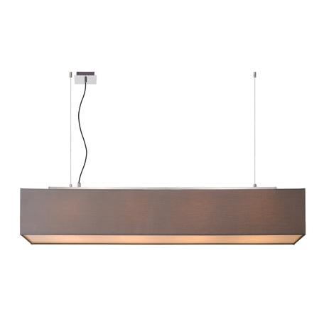Подвесной светильник Lucide Collom 31458/04/36, 4xE27x24W, хром, серый, металл, текстиль, пластик
