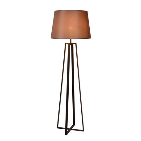 Торшер Lucide Coffee 31798/81/97, 1xE27x60W, коричневый, металл, текстиль